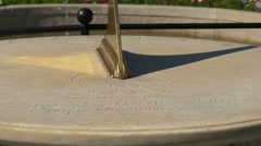 View of a sundial in Lazienki Park, Warsaw Stock Footage