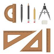 Architectural professional equipment. - stock illustration