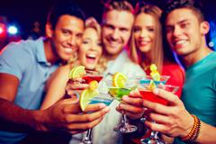 Party cheers Stock Photos