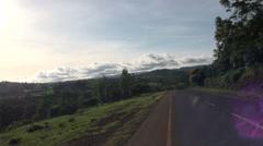 Road through the Tanzania. View of the horizon - stock footage