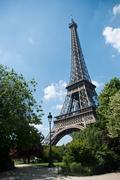 "Eiffel Tower and ""champ de mars"" park - stock photo"