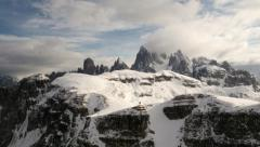 Time lapse clouds over dolomites summit Stock Footage