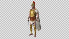 Legion, Roman Soldier, the alpha channel Stock Footage
