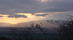 View of the sunset in the Ngorongoro National Park. Tanzania Stock Footage