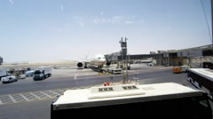 Abu Dhabi International Airport. Stock Footage