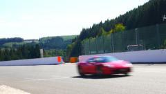 Ferrari California and Ferrari 458 Italia sports cars Stock Footage