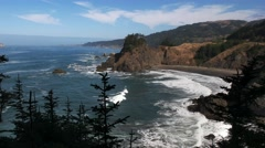 Oregon coastline at arch rock Stock Footage