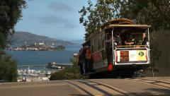 cable car in san francisco - stock footage