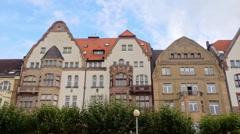 Oldtown of Düsseldorf Germany Stock Footage