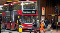 London bus station Stock Footage