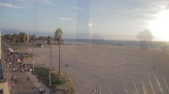 Venice Beach, view from beach apartment Stock Footage