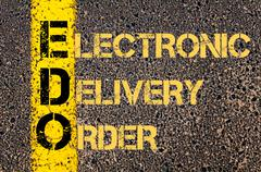 Business Acronym EDO as Electronic Delivery Order - stock illustration