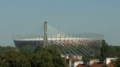 National Stadium in Warsaw Stock Footage