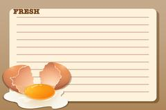 Line paper design with raw egg Stock Illustration