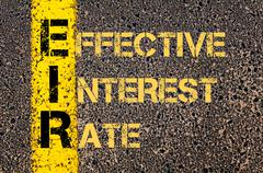 Business Acronym EIR as EFFECTIVE INTEREST RATE - stock illustration