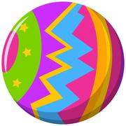 Round ball with color pattern - stock illustration