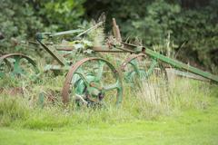Old farm equiptment Stock Photos