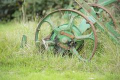 Old and unused farm equiptment Stock Photos