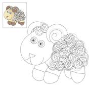 Picture to color - lamb. Stock Illustration