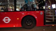 Night traffic on Oxford Circus, London, UK - stock footage
