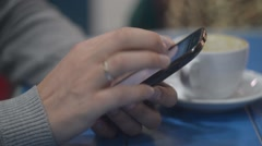 Sliding And Typing Touch Screen Of Smart Phone Stock Footage