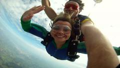 Skydiving Tandem handcam Stock Footage