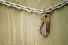 Keys hanging on chain Stock Photos
