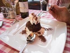 Chocolate dessert in Rome Stock Photos