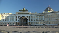 St. Petersburg, Palace square, General staff building. Stock Footage