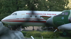 Aircrafts presented at Polish Army Museum Warsaw Stock Footage