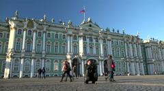 St.-Petersburg, the Hermitage, the Winter Palace. Stock Footage