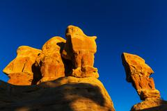 Sandstone hills and formations in Utah - stock photo