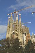 Sagrada Familia Temple in Barcelona - stock photo
