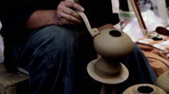 Making pottery in tradition process Stock Footage