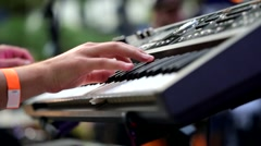 Keyboard players hands Stock Footage
