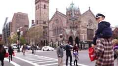 Boston trinity church Stock Footage