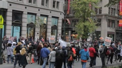 Stock Video Footage of Demonstration Stop the Cops Stopped by Cops