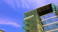 Munich ,Germany  - Amazon building in Munich.  - stock footage