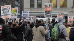 Demonstration Stop the Cops - stock footage