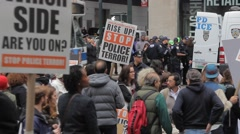 Demonstration Stop the Cops Stopped - stock footage