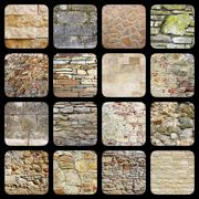 Stock Photo of collection of old stone wall textures ready for your design
