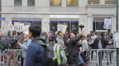Demonstration Slows Down as Police Break it Up Stock Footage