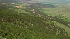 Aerial Wyoming Bighorn National Forest Stock Footage