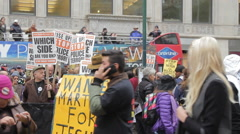 Stock Video Footage of Demonstration Stop the Cops