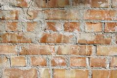 texture of real brick wall ready for architectural design - stock photo