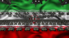 Iran Army Flag 60fps VJ Loop Stock Footage