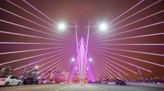 Time lapse 4k footage of traffic at Seri Wawasan Bridge, Putrajaya Stock Footage