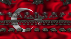 Turkey Army - stock footage