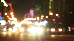 Illuminated New Arbat Avenue in night, Moscow Stock Footage