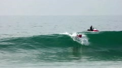 Kelly Slater (USA) surfing during the during the Moche Rip Curl Pro Portugal Stock Footage
